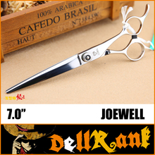 "Japan Original ""JOEWELL"" Scissors 7 Professional Barber Hairdressing Salon Scissors 440C High Quality Hair Cutting Shears J-2(China)"