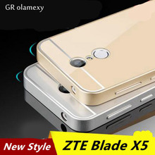 Free Shipping for ZTE Blade X5 Colorful Alunminum Metal Frame Rim + Plastic back board Bounding Box Cover Shell Case Coque Funda