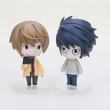 "2pcs/set  4"" Death Note Yagami Light Killer Nendoroid L Lawliet Anime PVC Action Figure Model Toy #17 #12"