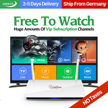 Quad-Core TV Box Android 4.4 IPTV Set Top Box 1G 8G with 1300+ IPTV Arabic French Europe IPTV Subscription 1 Year QHDTV Account
