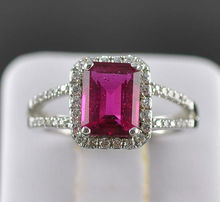 1.80CT NATURAL RED RUBY Engagement RING SOLID 14K WHITE Gold Fine Jewelry Wholesale