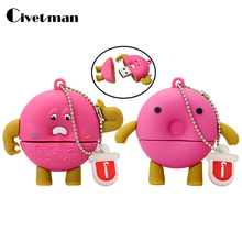 New Style Catoon donuts USB Flash drive Wholesale Hot sale Genuine 4GB 8GB 16GB 32GB 64GB Usb 2.0 Memory Flash Stick Pen Drive