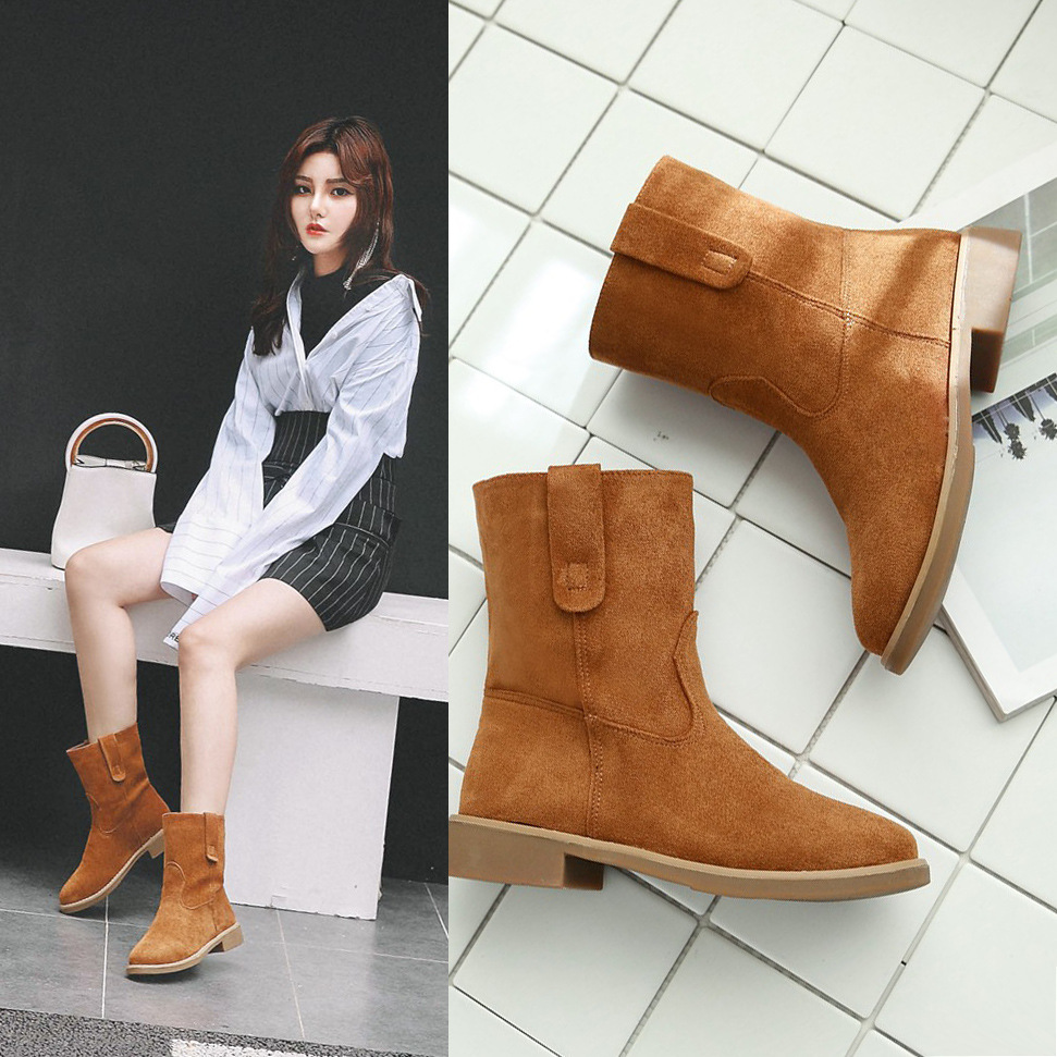 HIZCINTH Women Winter Boots Warm Shoes 2017 New Winter Short Boots Martin Suede Tide  Comfort Ankle Booties Sapatos Feminino<br>
