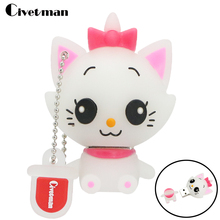 Civetman Fashion Cartoon Marie Cat USB Flash Drive 8GB 16GB 32GB 64GB Flash Memory Stick Pen Drive Disk for Laptop Computer