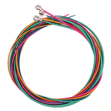 4pcs Colorful Electric Bass String Hexagonal Core & Nickel Alloy Wound Audio Cable Bass Strings Musical Accessories