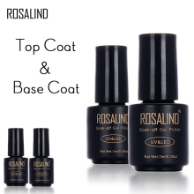 ROSALIND Black Bottle 7ML Top Coat  Base Coat Gel Nail Polish Nail Art Gel polish Nail Gel  UV LED Soak-Off multi-use top base