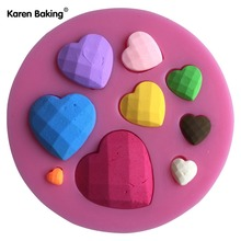 Differernt Size Heart Diamond Shape 3D Silicone Cake Mold Non-Stick Cake Decorating Fondant Chocolate Mold---C618