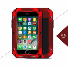 hot sale luxury Waterproof Phone Case For Iphone5S,  Fashion durable Heavy Duty Armor Aluminum Shockproof Metal Back Cover Cases