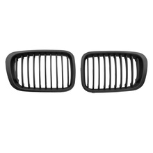 For 98-01 BMW E46 3Serie Sedan 4D Front Center Hood Grill Grilles Matte Black