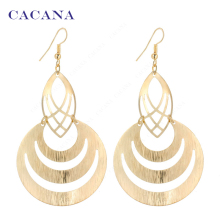 CACANA  Dangle Long Earrings For Women Hollow Fashion Bijouterie Hot Sale No.A123 A124