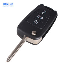 Dandkey 3 Buttons Flip Folding Key Shell Case For KIA K2 K5 Sportage Cerato Rio Uncut Blade Remote Auto Accessories