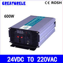 P600-242 600w inverter 24vdc to 220vac inverter pure wave inverter micro voltage converter,solar inverter