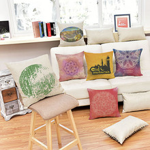 Islamic Culture Art Cushion Indian Mandala The Middle East Style Home Decorative Linen Pillow sofa Car Seat Pillowcase 45x45cm