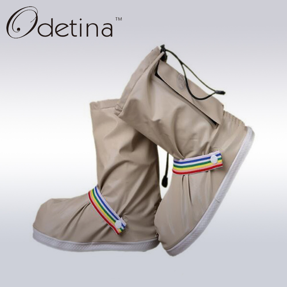 Odetina 2017 Summer Waterproof Women Rain Boots Plus Size Non-slip Fashion Outdoor Travel Shoes Ankle Rainboots 4 Colors<br><br>Aliexpress