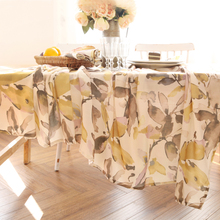 Jo's warm Vera Table Cloth Wash Painting Plant Round Rectangle Coffee Dining Decor Cover Polyester Faux linen Print Tablecloth