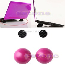 HOT 2PCS Laptop Notebook Antiskid Cooling Cooler Stand Ball Leg Skidproof Pad Hot Pink(China)