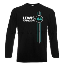 Lewis Hamilton Number 44 Mens Long Sleeve T Shirt Formula 1 Driver(China)
