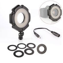"5600K outer LED Macro Ring Flash Light + 6 Rings 1/4""Mount Hot Shoe Adapter for Camera Photographic"