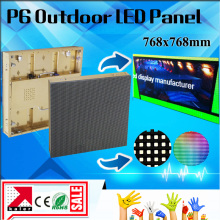 TEEHO P6 smd outdoor full color led display led matrix led screen 768*768MM outdoor golden brushed aluminum display video wall