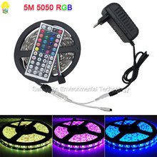 1M 5M Roll SMD 5050 RGB LED Strip Lights with Controller DC 12V Power Adapter IP20 IP65 Waterproof Flexible Diode LED Tape Lamp(China)