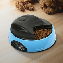 4 Meal LCD Screen Pet Automatic Feeder Programmable Timer Animal Food Supplies Bowls Water Trays Electronic Station