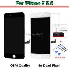 OEM Quality No Dead Pixel For iPhone 7 Plus LCD Display With Touch Screen Digitizer Assembly Black&White