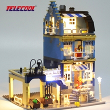 TELECOOL LED Light Building Blocks Toy (Only light set) For Factory City Street European Market House Lepin 15007 Brand 10190(China)