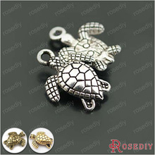 (26948)30PCS 16*13MM Antique Silver Zinc Alloy Animal Sea Turtle Charms Pendants Diy Jewelry Findings Accessories Wholesale
