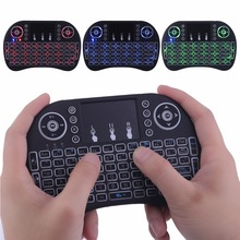 Mini I8 2.4G Wireless Touchpad Keyboard Adjustable Speed Air Mouse Game Keyboard With Backlight For Android Black/White