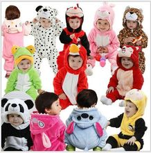 Wini baby 2016 New Cute Animal Panda One Piece Long Sleeve Cotton Newborn Baby Romper Baby Costume Clothing Clothes