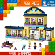 New 10166 BELA Girls Friends HeartLake City School Block 489pcs basketball hoop deli science picnic flower Compatible with Lego