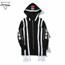 Aelfric Eden Man Jacket Korea Cardigan Hoodie Jackets GD Style Long Ribbons Baseball Jacket Letter Patch Mens Fall Jackets PA148(China)