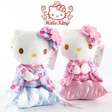 Cartoon 18CM Hello Kitty Plush Toys KT Cat with Sakura kimono fashion dolls for Girls Birthday gifts