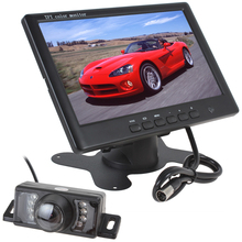 Super Thin 800 x 480 7 Inch Color TFT LCD 2 Channels Video Input Car Rear View Monitor + 7 IR Lights Car Rear View Camera
