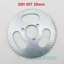 Rear Sprocket 25H 55T 29mm 55 Tooth Silver For 47cc 49cc Pocket Bike Mini ATV Moped Scooters Pit Dirt Motard and Bikes