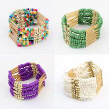 1 pc High quality Bohemian Charming Beaded Bracelet Multilayer Womens fine Jewelry Hot