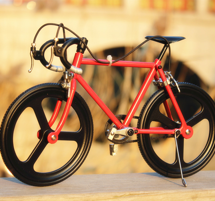 DIY Bicycle Model Assembling Aluminium Alloy Dead Fly Mountain Bicycle Model Kits<br>