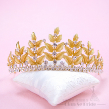 Fashion Accessories Vintage Crown Female jewelry tiara golden color charming hairband wedding accessories bifan(China)