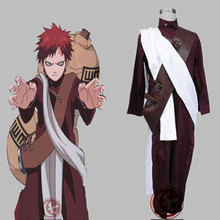 Custom made 3th Red Gaara Cosplay Costume from Naruto Shippuuden Anime
