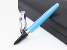 BAOER 100 Blue And Sliver Retro-style Fine Nib Fountain Pen New Best Price Latest launch(China)