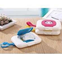 4 Colors Foldable Wet Tissue Box Plastic Automatic Case Wipes Press Pop-up Design Home Tissue Holder Accessories(China)