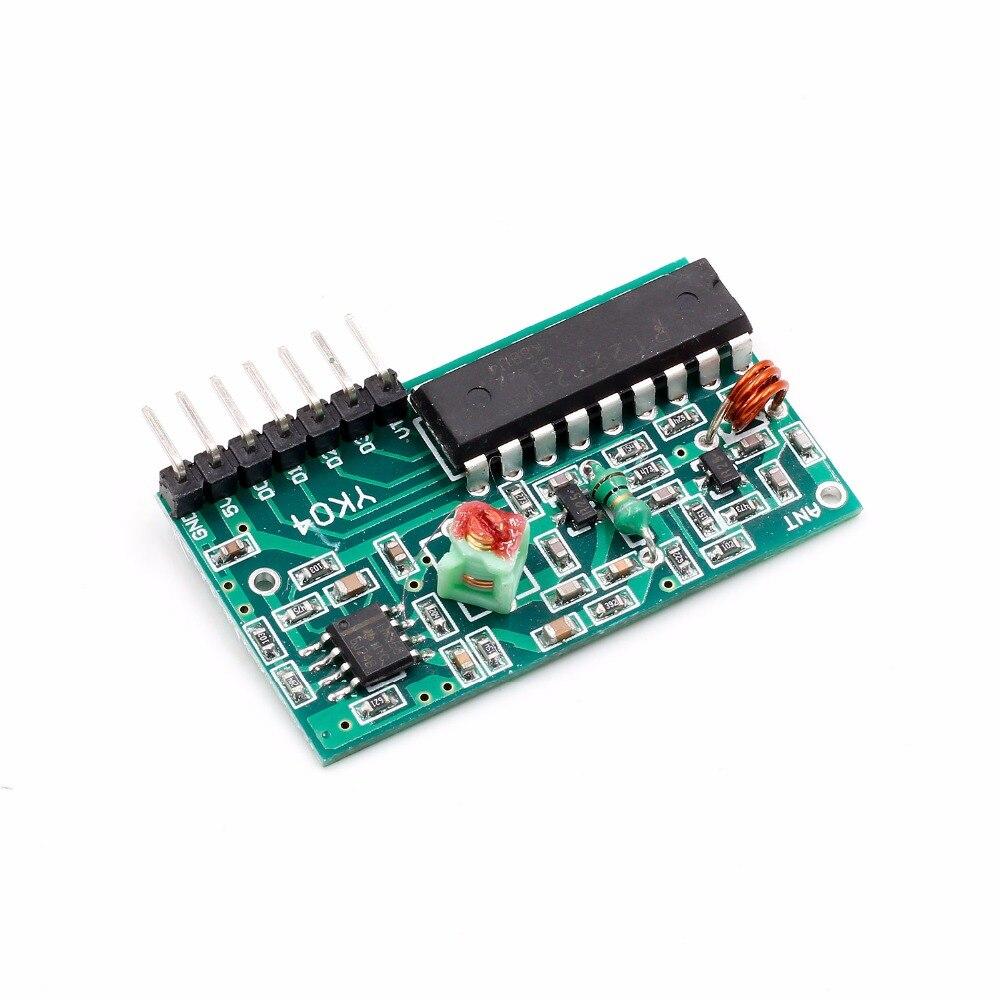 1set 2262/2272 Four Ways Wireless Remote Control Kit,M4 the lock Receiver with 4 Keys Wireless Remote Control 4