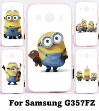 Cute Big Eyes Minions Cell Phone Cases For Samsung Galaxy Ace 4 LTE G357FZ Case Print Mulit Hard Plastic and Soft TPU Phone Skin