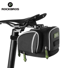 ROCKBROS Road Bike Bicycle Saddle Bag Portable Cycling Outdoor MTB Seat Post Bag Basket Adjustable bike riding Fixed Gear Fixie(China)