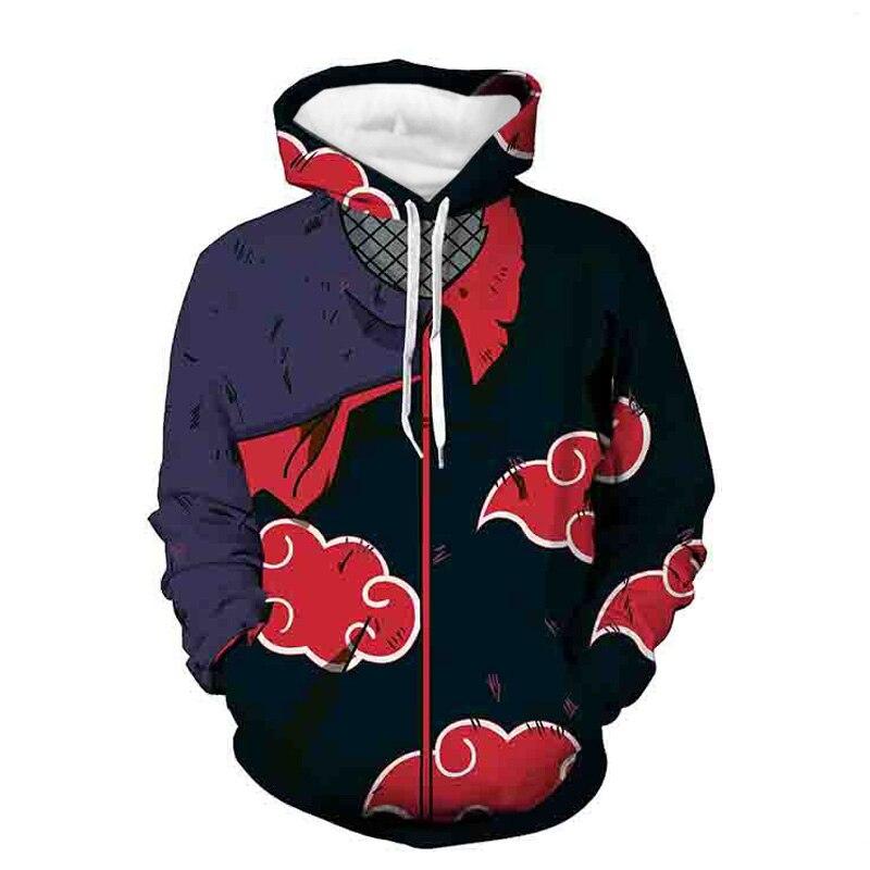 Coshome Naruto 3D Hoodies Anime Boruto Akatsuki Jacket Coat Uchiha Itach Cosplay Costumes Kakashi Men Sweatshirt Spring (20)
