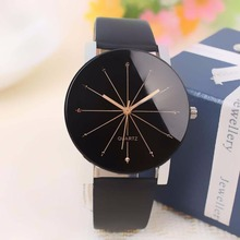 Buy Fashion 2017 watch men Luxury brand Unisex popular womens watches Quartz Stainless Steel Dial Leather Band WristWatch clock gift for $1.59 in AliExpress store