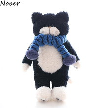 Nooer Kawaii Cute Japan Tiimo Black Cat Plush Toy Stuffed Cat &Animal Plush Doll  For Kids Children Soft Chair Cushion