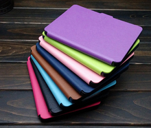 pu leather cover case for amazon new kindle touch ereader 7th generation 2014 6'' ereader+screen protector+stylus