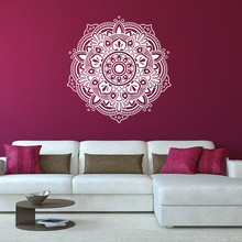 New Arrivals Mandala Flower Indian Bedroom Living Room Wall Stickers Decal Art Mural Home  Decoration Non-toxic