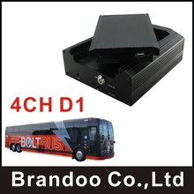 Cheap CAR DVR, 4 channel D1, HDD memory used, used on school bus, taxi, train, urban bus